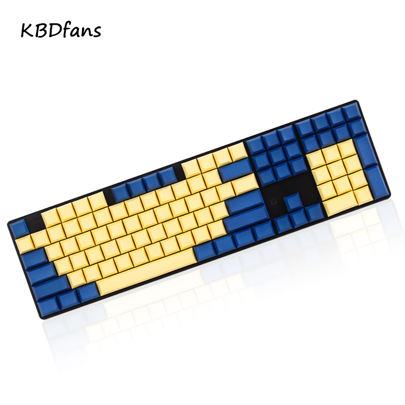 Prix pour DSA keycaps blanc et gris pbt blanc keycaps pour wried clavier de jeu mécanique