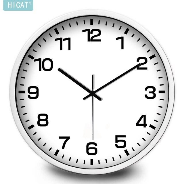 HICAT Mute Creative Fashion Simple Living Room Wall Clock Quartz Muji IKEA Style Free Shipping