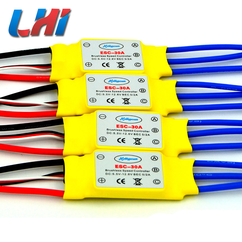 2017 Servo Lipo Fpv Hot Lhi 4 Pcs Brushless 30a Speed Controller Blheli_s For Helicopter Multicopter Rc Quadrocopter Quadcopter 1pcs original hotrc 30a brushless motor esc speed controller with jst plug for rc quadcopter rc helicopter multicopter