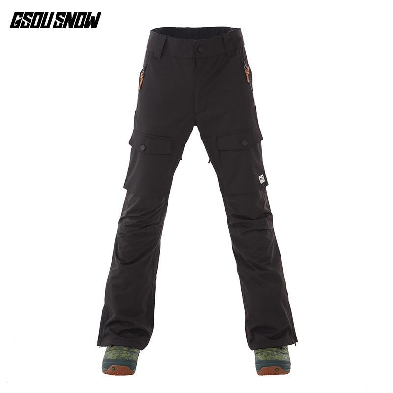 GSOUSNOW pantalons d'escalade de ski en plein air 2018 hommes nouveau style coupe-vent froid et chaud pantalons de ski pour hommes - 3