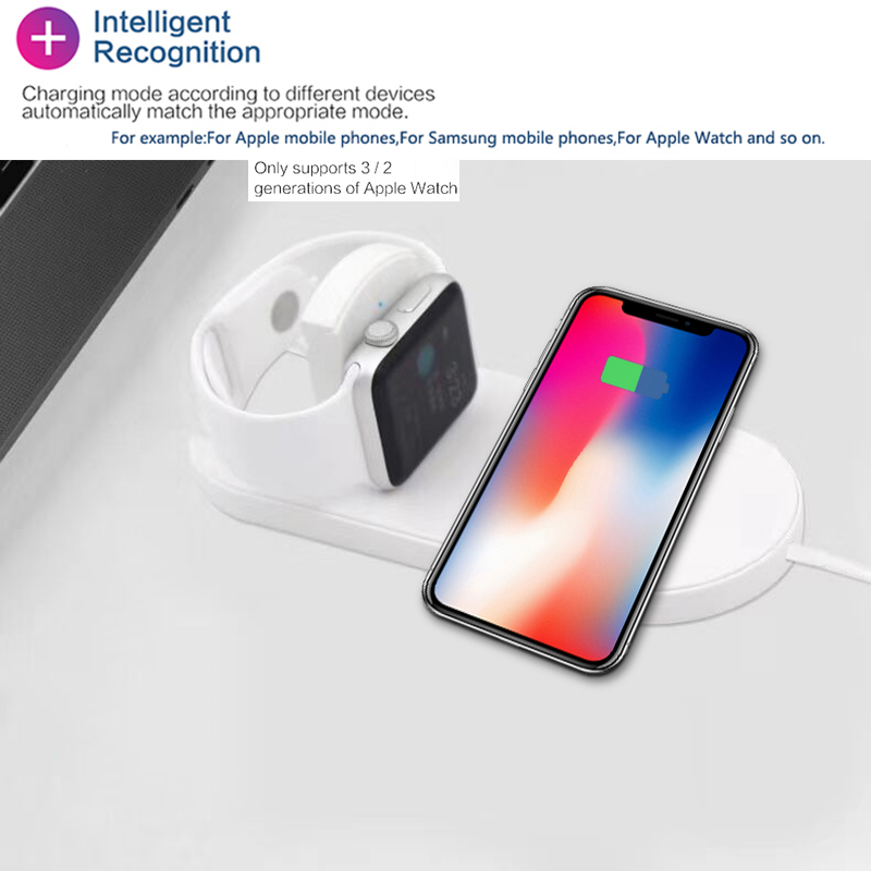2018 new AirPower for apple watch series 2 3 Wireless Charger for iphone X 8 8 plus 8plus support 7.5w fast charging dock repair 2 pcs new charging dock charger station for dual playstation 4 ps4 wireless controller