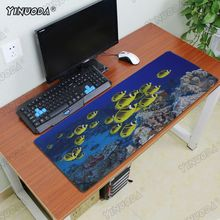 Yinuoda tropical coral reef Sea ocean fishes Rubber Gaming mousepad Desk Mat Computer Peripherals Keyboard Pad Gifts Mat