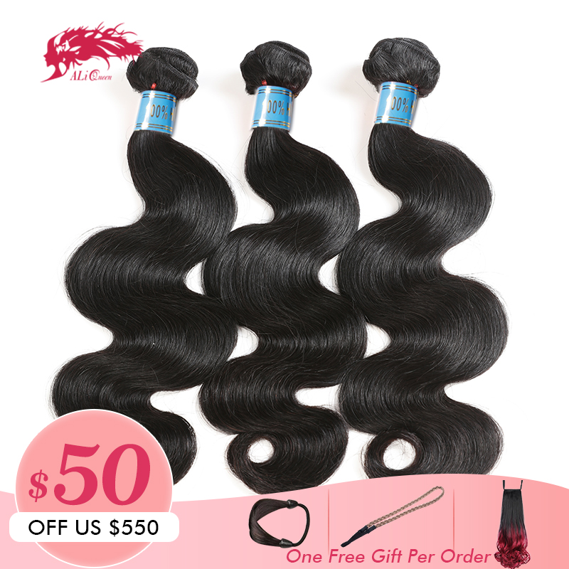 Ali Queen Hair 10A Peruvian Hair Body Wave 100 Human Hair Bundles 8 26inch 3 Piece