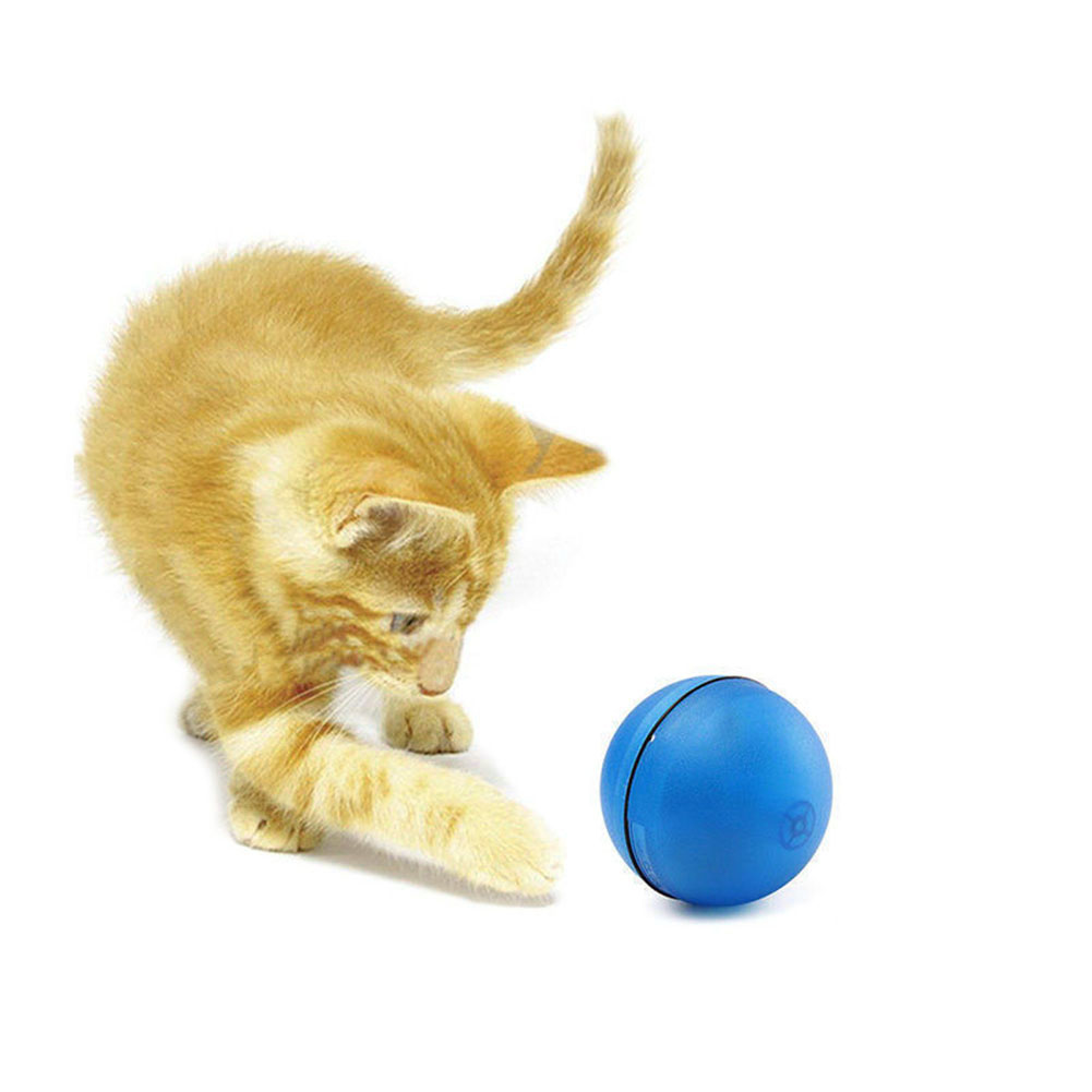 Novelty Funny Pet Cat LED Light Laser Ball Teaser Exercise Interactive Automatic Pets Cat Toy 2017ing TB Sale
