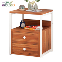 Wooden Nightstand Storage cabinet With drawer Organizer Detachable Assembly Bedside Small table bedroom fashion furniture