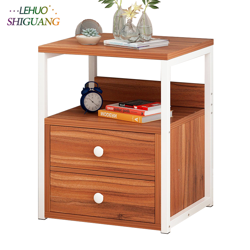 US $43.99 12% OFF|Wooden Nightstand Storage cabinet With drawer Organizer  Detachable Assembly Bedside Small table bedroom fashion furniture-in ...