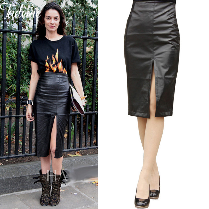 Popular Faux Leather Pencil Skirt-Buy Cheap Faux Leather Pencil ...
