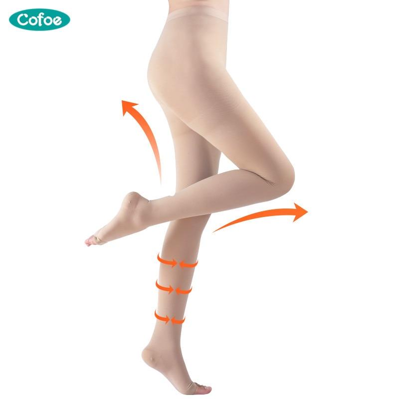 63e566e11 UM Par de Nível de Pressão Varicosa Médica Veias Meias 15 21mmHg 1 Meia  calça Meias Varizes Meias de Compressão Meias de Cuidados de Saúde em  Massagem ...