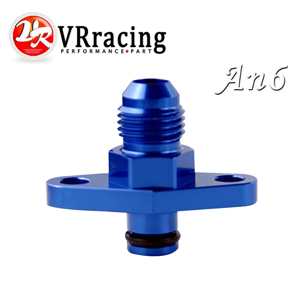 VR RACING - AN6 Fuel Rail Pressure Regulator Adapter Blue for NISSAN TOYOTA SUBARU VR-FPA14
