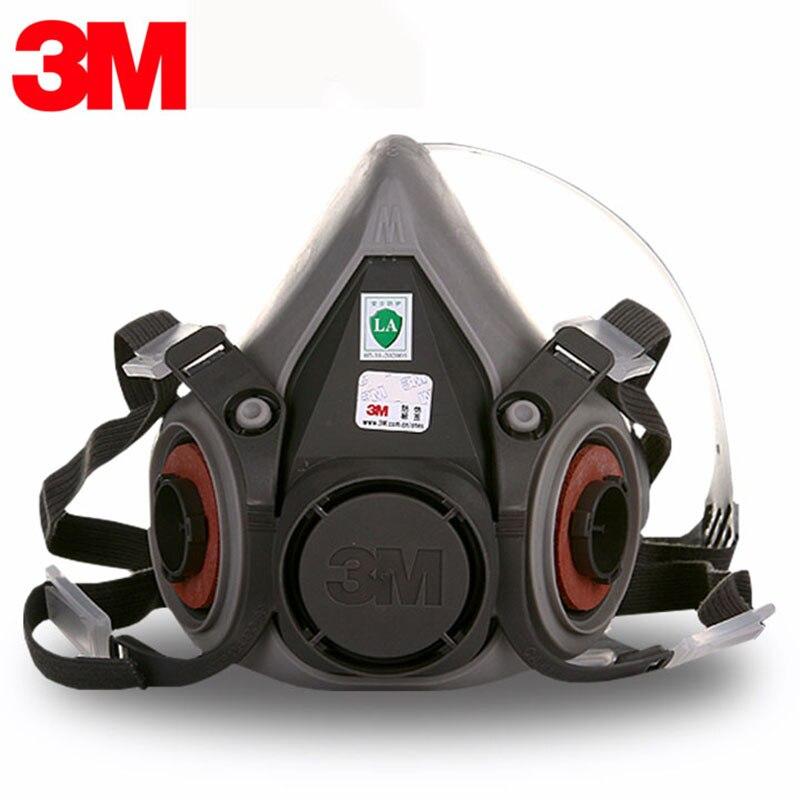 3 m 6200 Masque à gaz 6000 Série Demi-Masque Respirateur Réutilisable Petit 6100/Moyen 6200/Grand 6300