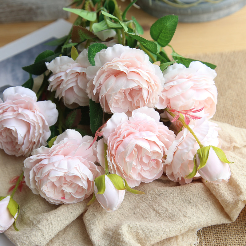 peony artificial roses flowers (3)
