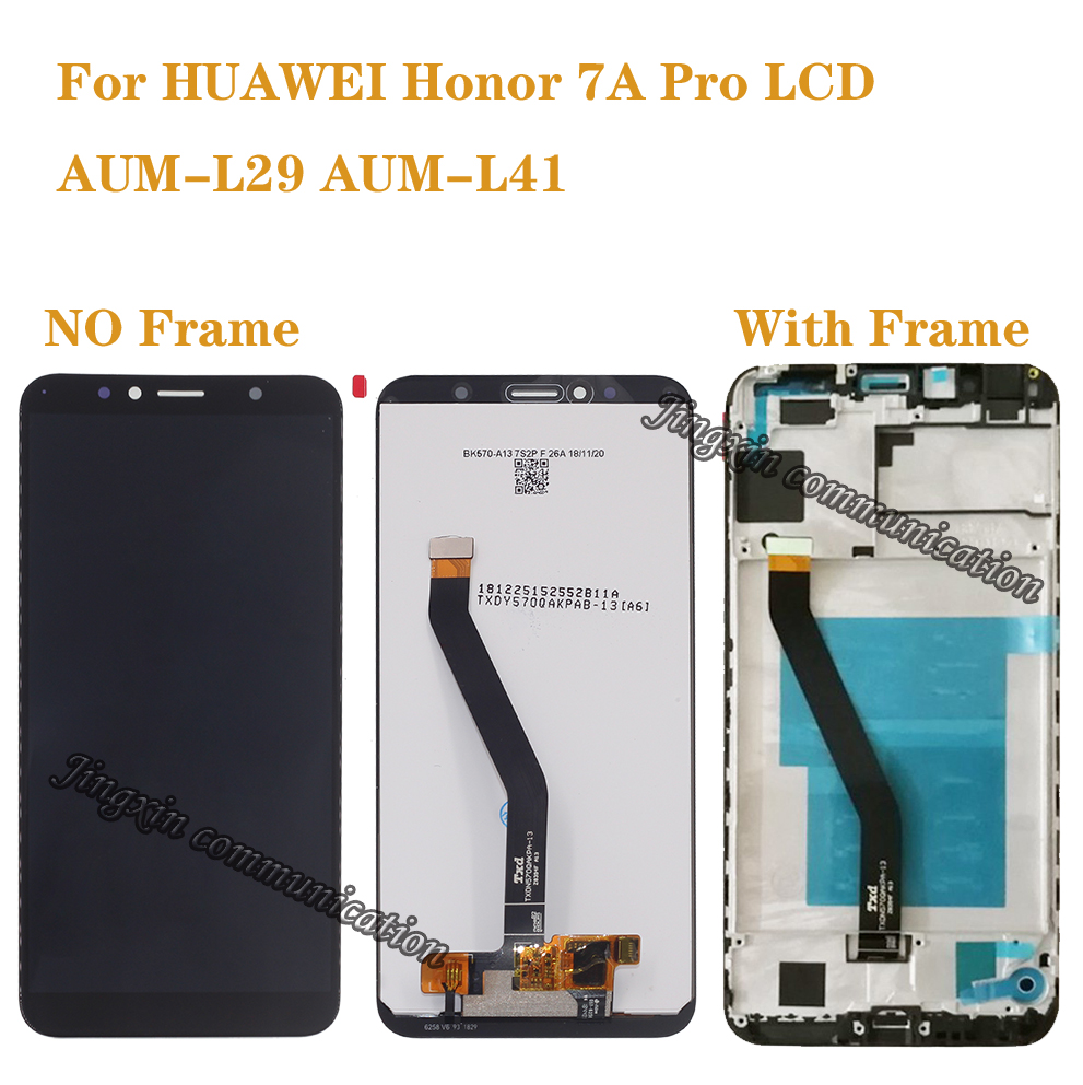 "New 5.7"" LCD for Huawei Honor 7A pro AUM L29 Aum L41 LCD +touch screen digitizer components with frame display repair parts-in Mobile Phone LCD Screens from Cellphones & Telecommunications"