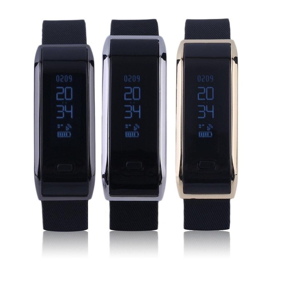 2017 NEW Bluetooth Bracelet Sleep Fitness Activity Tracker Call Reminder Smart Band