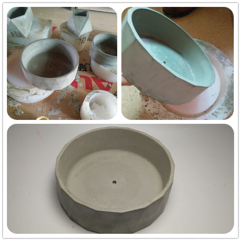 Moule à béton rond en silicone moule géométrique en argile bricolage moule de pot de fleur en ciment
