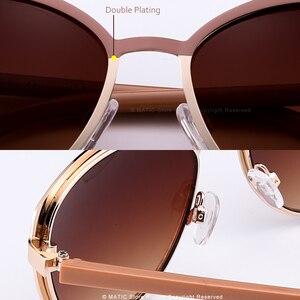 Image 5 - Женские винтажные очки авиаторы MATIC, розовые солнцезащитные очки в стиле ретро с градиентом для вождения, для макияжа, кошачий глаз