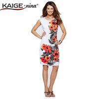 Ladies Summer Dress Casual Women Dress Vintage Print Floral Sleeveless Office Dress Bodycon Plus Size Women