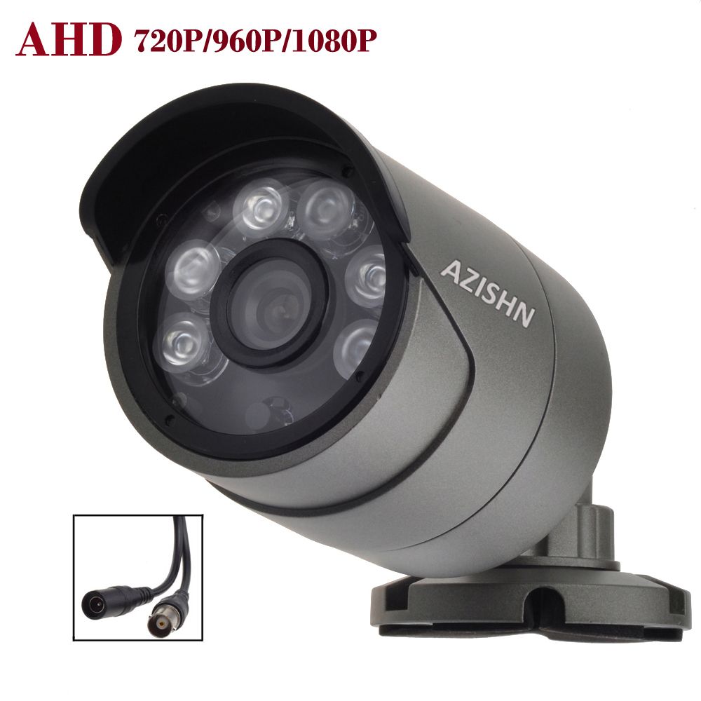 CCTV AHD camera 1.0MP/1.3MP/2.0MP 720P/960P/1080P metal Waterproof IP66 Outdoor  6PCS LEDS Security Surveillance Camera IR Cut