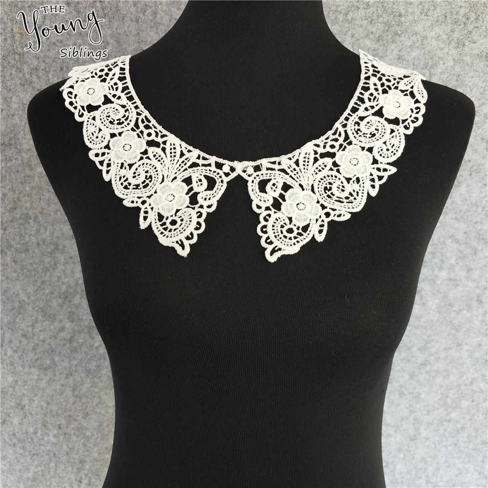 New arrive sewing lace applique neckline exquisite decoration handmade trim embroidery fabric accessories lace Collar hot sale
