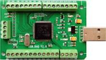 Module d'acquisition de données USB DAQ 12AD 2DA 8I/O 0-3.3V, compteur PWM numérique analogique, Codes LabVIEW Matlab VC Win10 Linux