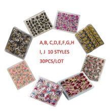 NEW Wholesale 3d Nail Art DIY Stickers 30 Sheets  Floral Pattern Gold Stamping For Nails Diy Beauty Design Bronzing 3D
