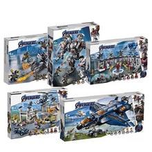 07120 07122 07123 Avengers 4 Endgame Ultimate Quinjet Set Compatible Legoing 76126 76131 Building Blocks Brick Toy
