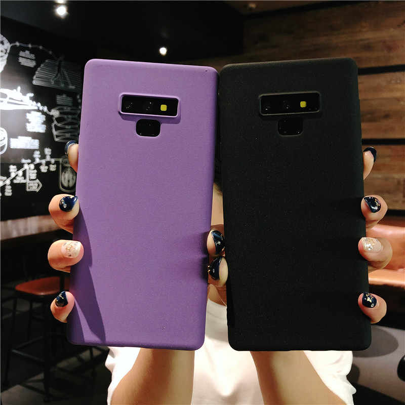 Pasir Tekstur Frosted Matte TPU Case untuk Samsung Galaxy Note 9 8 5 4 3 Kasus Telepon Penutup Silikon Samsung s9 Plus S8 S7 S6 Edge