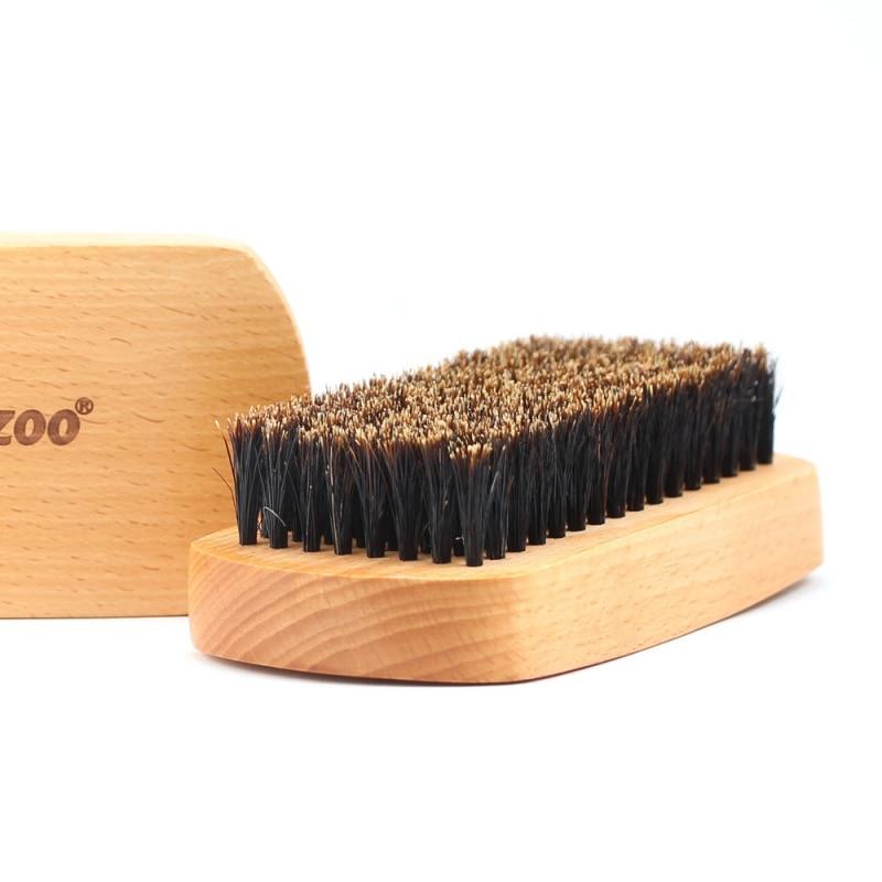 1pcs Men Boar Hair Bristle Beard Brush Shaving Brush Shaving Comb Face Massage Solid Handmade Yellow Mustache Brush