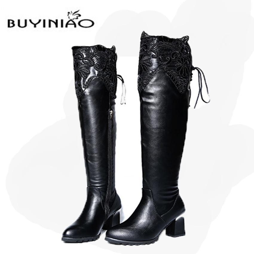 Online Get Cheap Black Long Boots -Aliexpress.com   Alibaba Group