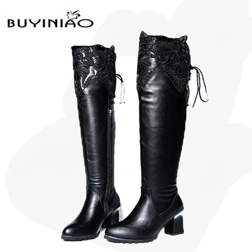 Online Get Cheap Black Knee Boots -Aliexpress.com | Alibaba Group