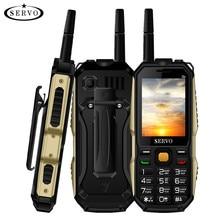 Téléphone d'origine SERVO P20 2.4 «Quadri-Bande 3 SIM Carte Téléphone Portable GPRS TV de Changement de Voix Laser Lampe De Poche Banque De Puissance clavier russe