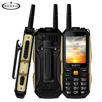 Original Phone SERVO P20 2.4 Quad Band 3 SIM Card Cellphone GPRS TV Voice Changing Laser Flashlight Power Bank Russian keyboard