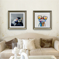 Modern Abstract Canvas Art Painting Print Happy Frog Orangutan Animals Poster Wall Pictures For Living Room
