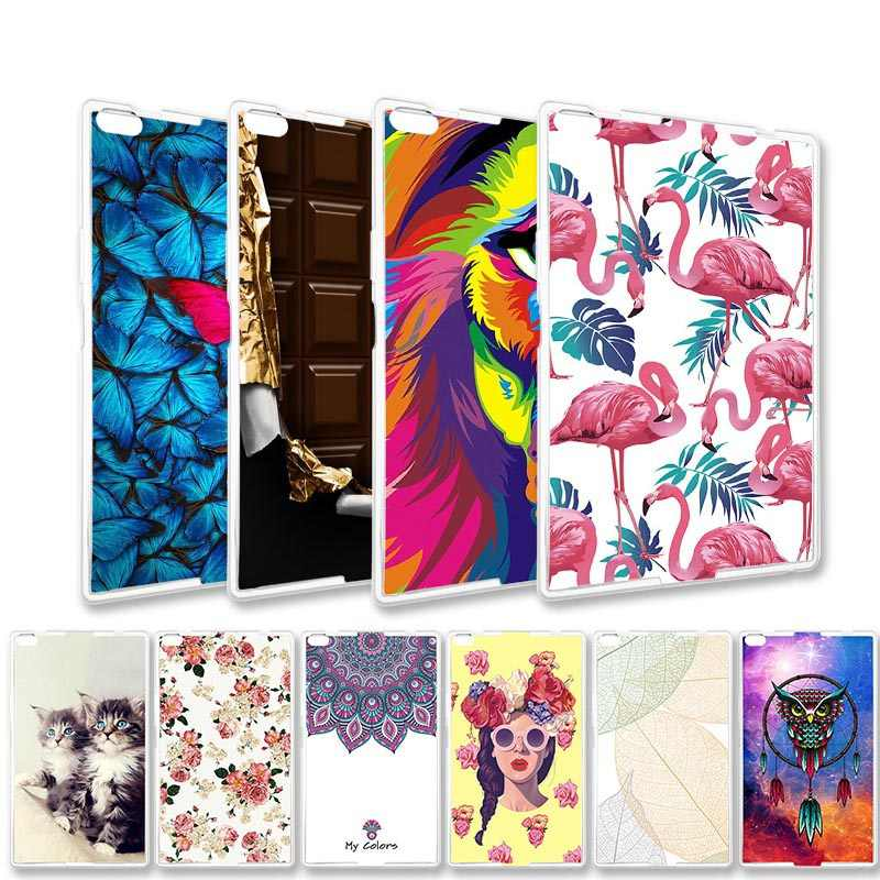 Clear Painted Tablet Cases For Samsung Galaxy Tab A 10.1 10.5 8.0 7.0 2016 2018 2019 Tab 3 4 Case Silicone Cover Soft TPU Bags
