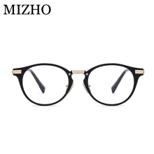MIZHO Brand Super Light Top Vintage O Glasses Men Optical Titanium 2019 High Quality Acetate Eyeglasses Frames Women Strong