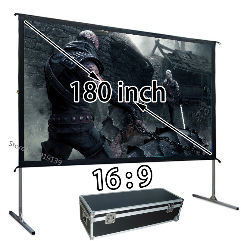 New Large 180-inch Quick Open HD Projection Screen 16:9 Front Projector Screens 3984x2241mm Viewable Best For Outdoor DisplayNew Large 180-inch Quick Open HD Projection Screen 16:9 Front Projector Screens 3984x2241mm Viewable Best For Outdoor Display