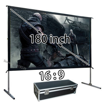 New Large 180-inch Quick Open HD Projection Screen 16:9 Front Projector Screens 3984x2241mm Viewable Best For Outdoor Display