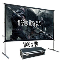 New Large 180 Inch Quick Open HD Projection Screen 16 9 Front Projector Screens 3984x2241mm Viewable