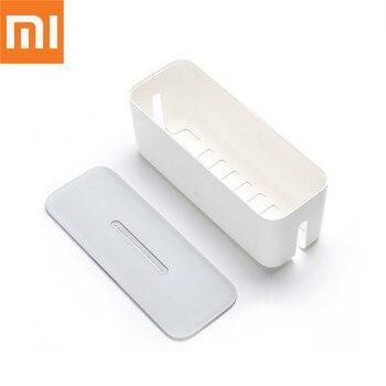 원래 xiao mi mi 전원 스트립 스토리지 박스 소켓 플러그 컨테이너 와이어 케이블 데스크탑 구성 케이스 전원 코드 소켓 스토리지 박스