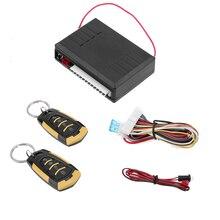 Универсальный автомобильный сигнализации Авто удаленному центральному комплект замок двери автомобиля системы ввода ключа центральный замок с Пульт дистанционного Управления