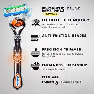 Image 2 - Gillette Fusion Proglide rasoir électrique pour homme, rasoir électrique, sécurité, porte barbe, lame tranchante