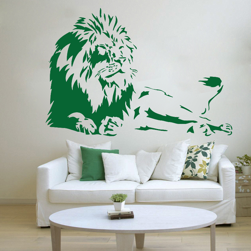Zn G226 Lion Wall Sticker Art Vinyl Transfer African Safari Home Wall Stickers Decorative Art Bedroom Home Decor Wall Stickers