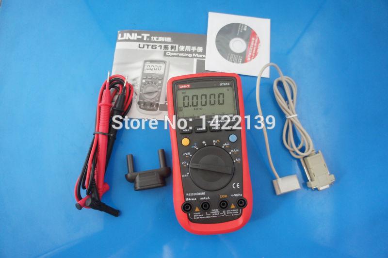 UNI-T UT61E Modern Digital Multimeters UT61E AC DC 10Hz - 220Mhz мультиметр uni t uni t ut71b alicate amperimetro ac dc