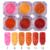 2g aurora paillette lentejuelas pink orange red manicura nail art decoración