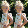 Children Baby Toddler Infant Kids Girls Dresses Arrow Party Pageant Summer Casual Dress Cute Backless Floral Sleeveless