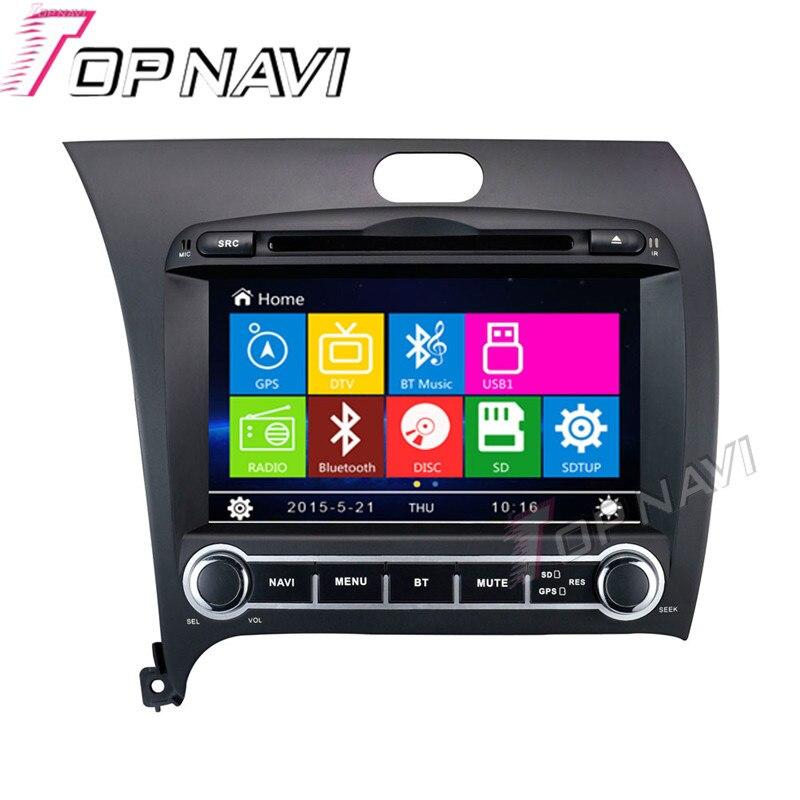 Topnavi 8 автомобиль DVD gps для KIA K3/Cerato/Forte 2013 автомобиль радио мультимедиа аудио стерео в тире, Wince Системы