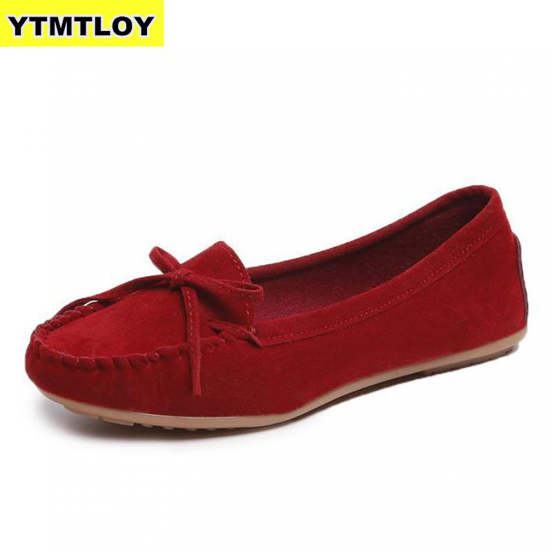Plus Size 35-43 Women Flats Shoes Loafers Candy Color Slip On Flat Sho