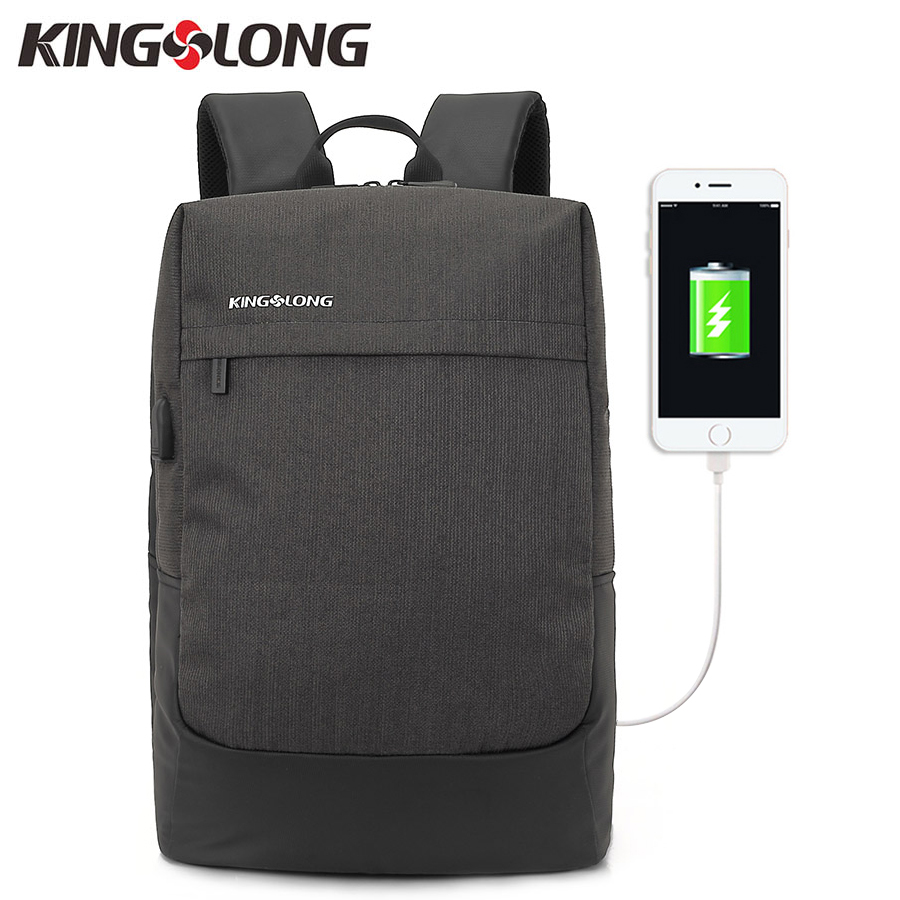 KINGSLONG Rechargeable Backpack Men 15.6 inch Laptop Backpacks For Teenager Fashion Male Mochila Leisure Travel Daypacks  #53 men backpack student school bag for teenager boys large capacity trip backpacks laptop backpack for 15 inches mochila masculina
