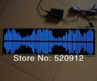 60 18cm Voice Sound Active El Car Sticker Light Glow Car Stickers With DC12V Inverter And