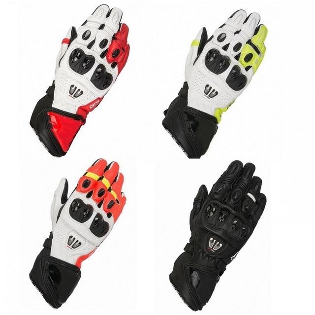 2019 New 4 Colors 100% Genuine Leather GP PRO R2 Motorcycle Long Gloves Racing Driving Motorbike Original Cowhide GP PRO Gloves