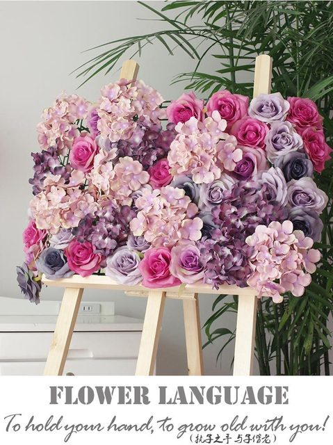 10 Teile Los Kunstliche Seide Rose Blume Wand Hochzeit Hintergrund